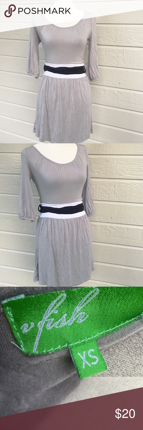 Vfish 3 4 Sleeve Gray Casual Dress Cute Casual Dresses Casual Cocktail Dress High Fashion Street Style [ 1740 x 580 Pixel ]