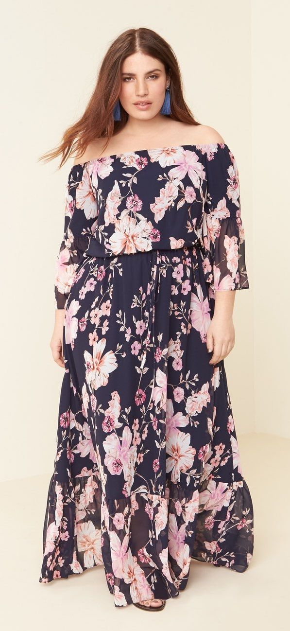 a6fb886264f Plus Size Floral Maxi Dress