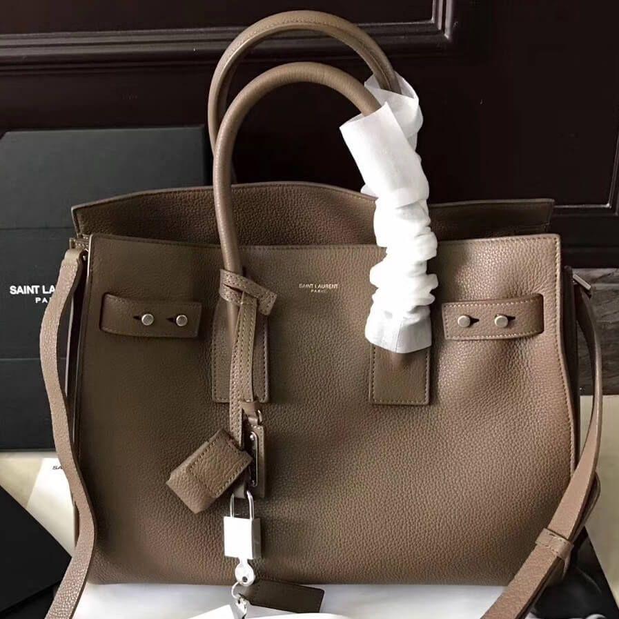 3ec97e76c6 Saint Laurent 464960 Small Sac De Jour Souple Bag in Grained Leather ...