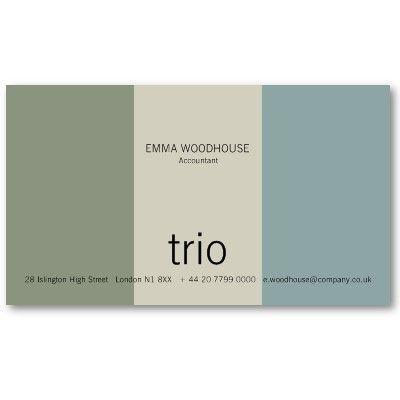 Trio Cadet Blue, Sea Green & Grey Business Card   Zazzle ...