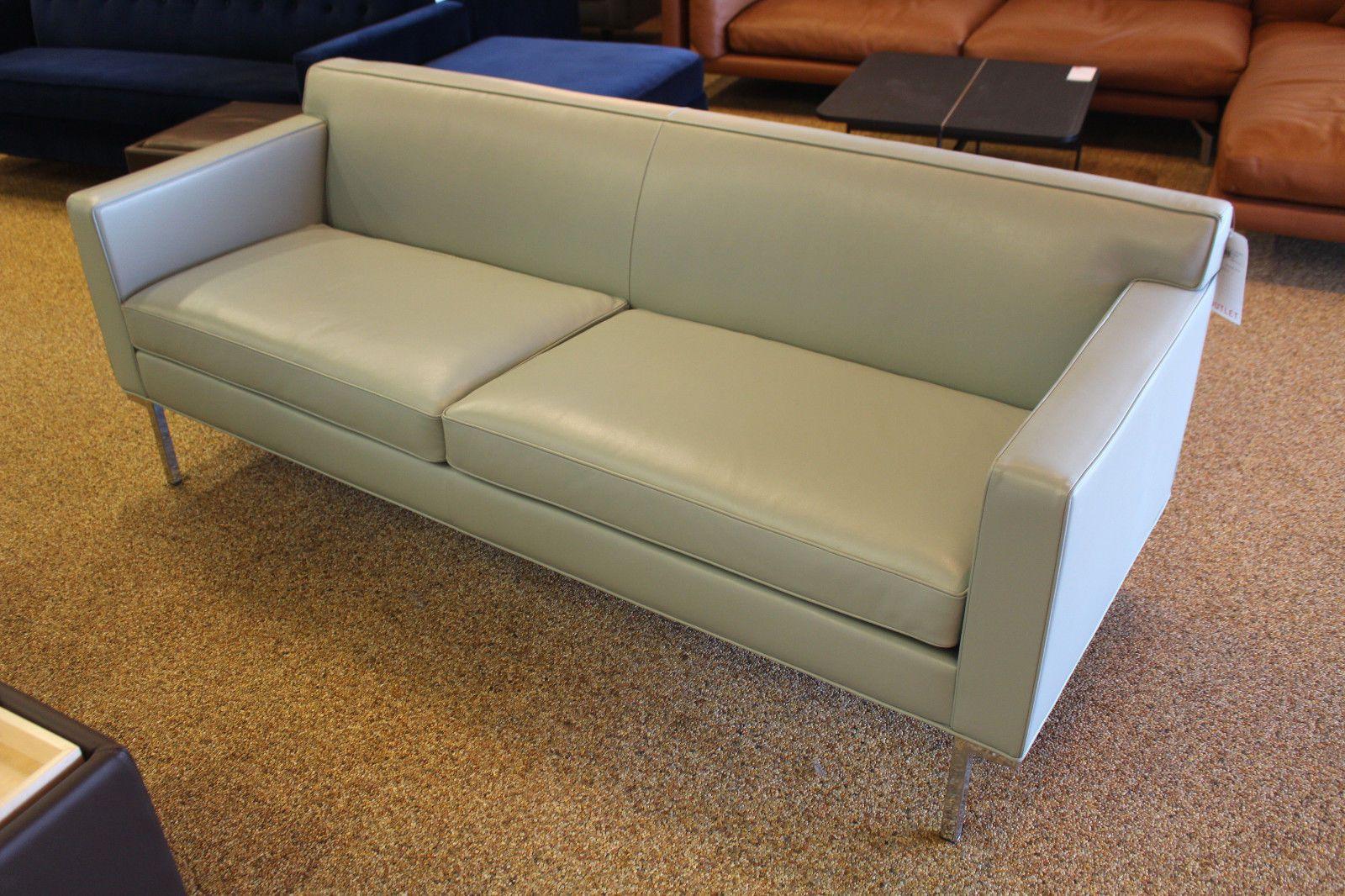 Theatre Sofa Mist Leather Leather Design Within Reach Dwr Modern  # Muebles Sedutti