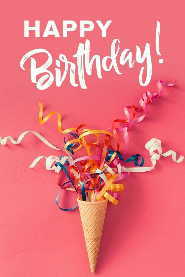Birthday Wishes For Friend Email Happy Birthday Cone Confetti Streamers | Random Awesomness