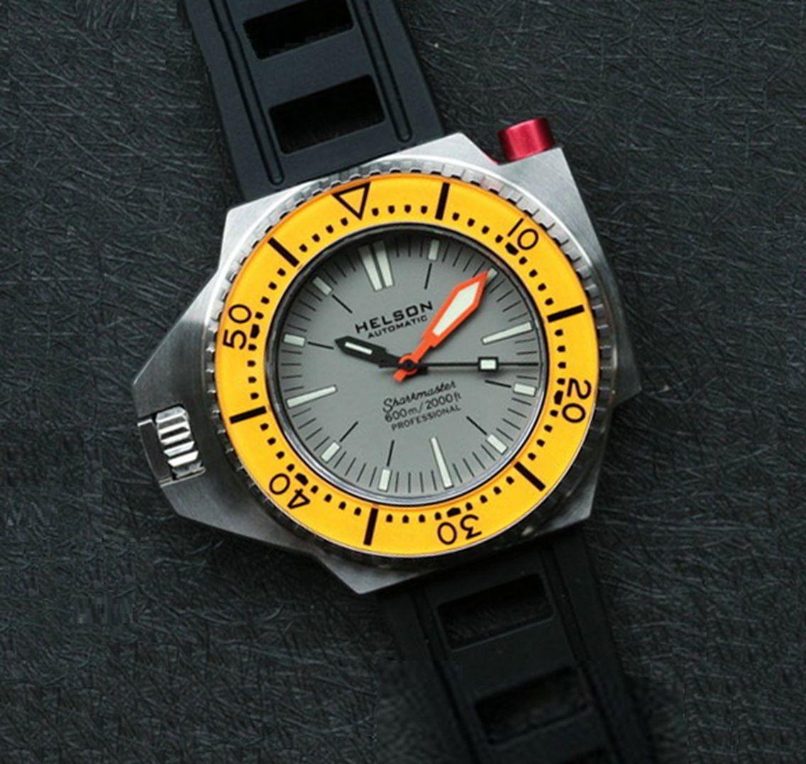 En Grey 600 Dial Orange Watchs 2019 Sharkmaster BezelClik Helson zGLqVpUMS