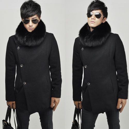 H20 p130 winter hot selling luxury detachable fur collar personalized cable stayed thermal wool long design trench-in Wool & Blends from Apparel & Accessories on Aliexpress.com