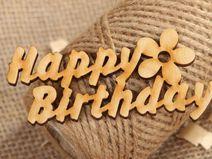 Handmade Rohling aus Sperrholz Happy Birthday