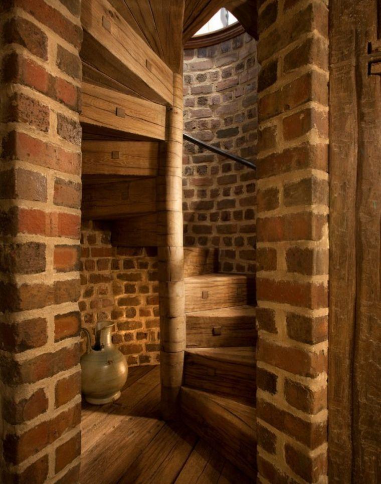 Escaleras r sticas de piedra y madera m s de 35 dise os - Escaleras rusticas exteriores ...