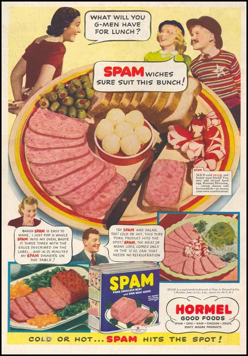 SPAM WOMANS DAY 05 01 1941 BACK COVER Vintage AdsSpamLunchThe