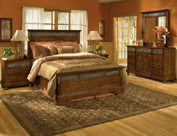 Western Style Master Bedroom.