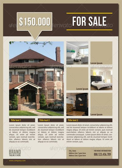 17 Best images about Real Estate Flyer Templates on Pinterest ...