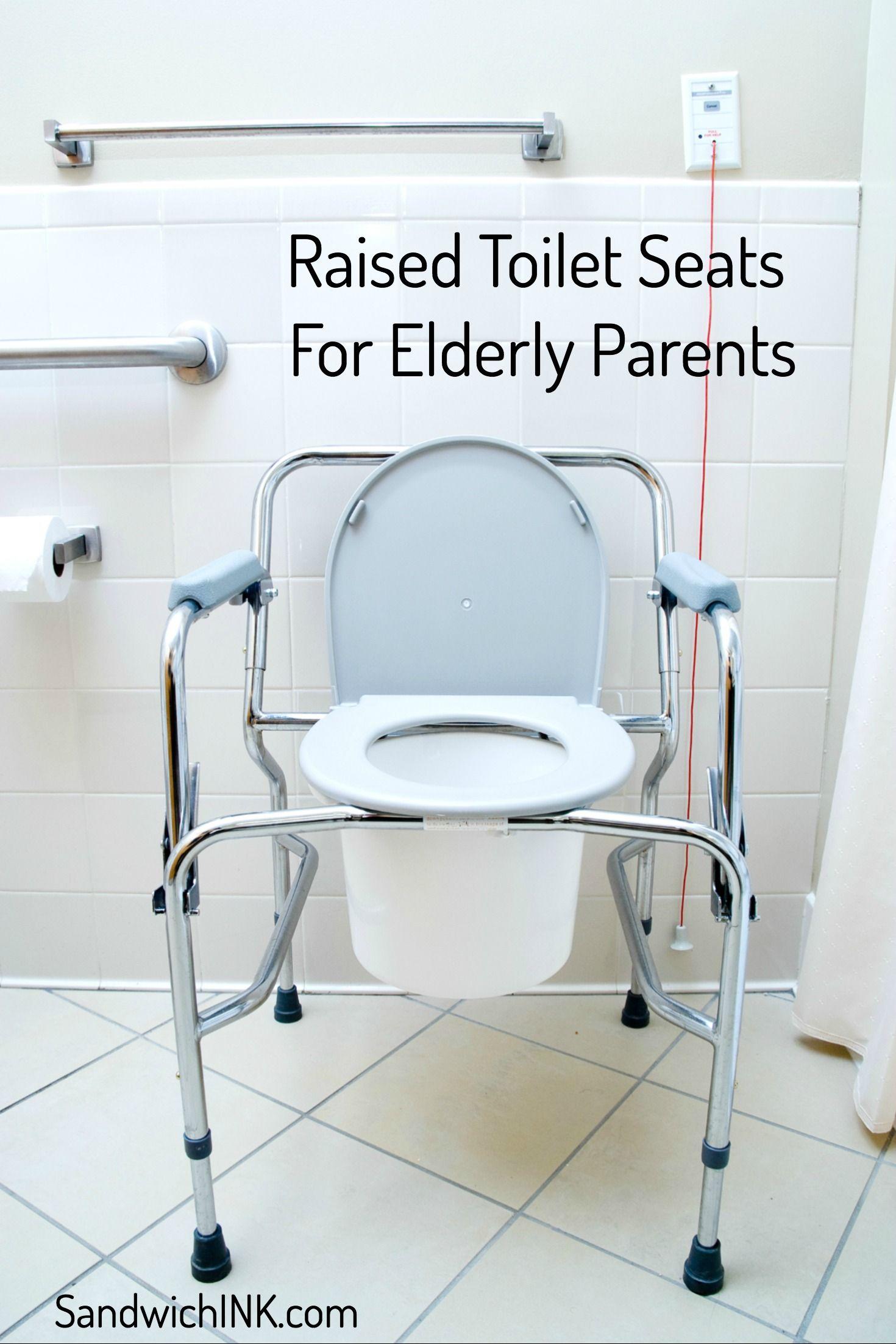 raised toilet seat elderly parents bathroom medical