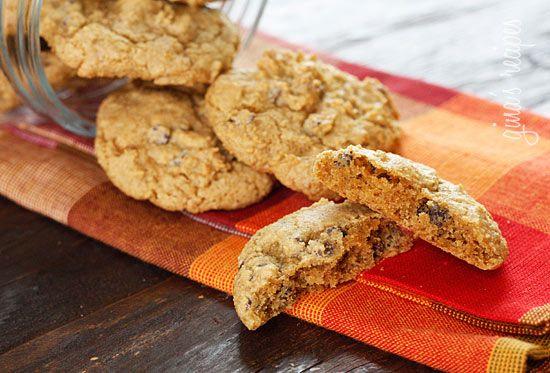 Low-fat Pumpkin Spiced Chocolate Chip Cookies | Skinnytaste