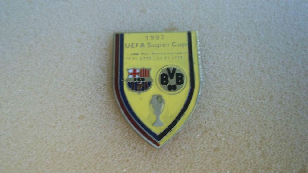 Pin Badge FC Barcelona-Borussia Dortmund European Cup Final SuperCup 97