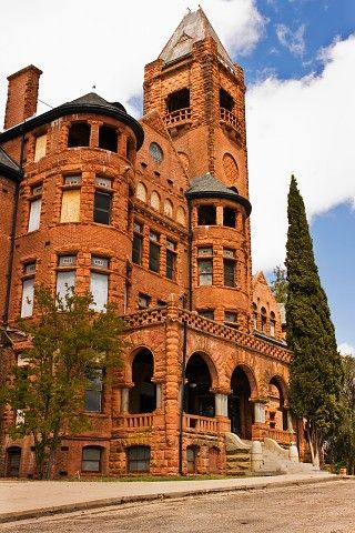 The Preston Castle is located in Lone, California. It was built in 1890 with a Romanesque Revival style. This building originally housed juvenile offenders with the purpose and intent of rehabilitation.