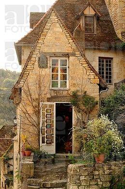 casco antiguo de Rocamadour, Departamento Lot, Aquitania, Francia
