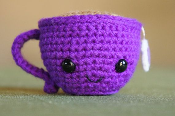 Teeny the Teacup in Purple by ChristinasYarnCrafts on Etsy