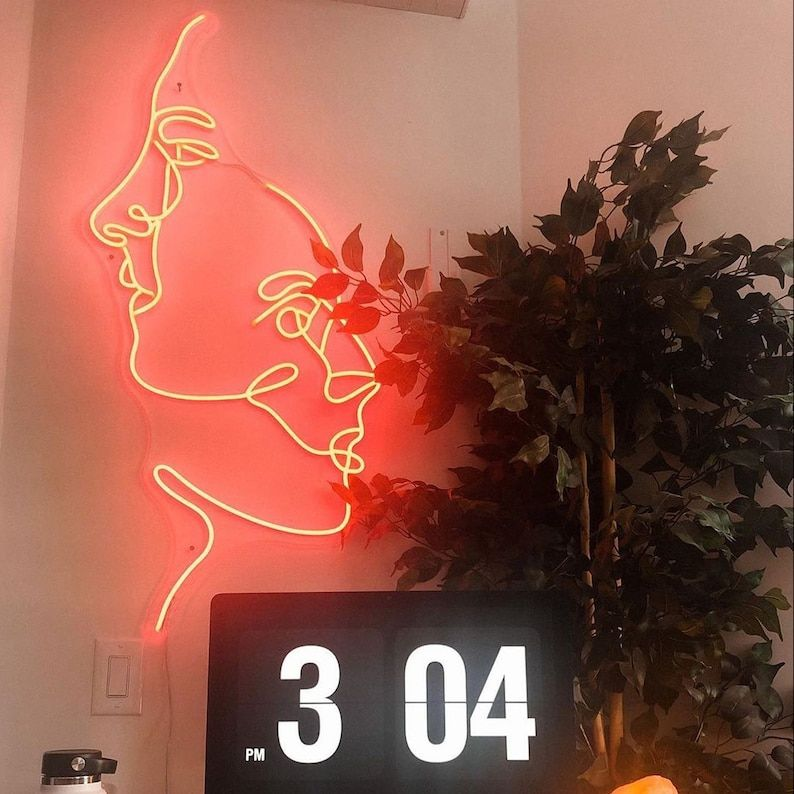 Two Face Neon Sign Led Light Home Decor Custom Neon Sign | Etsy