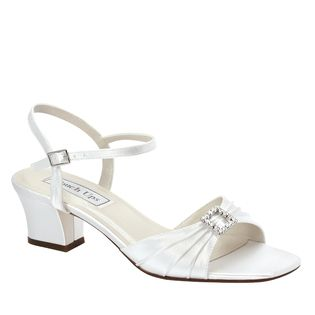 c537e5cb4c37 Shala White Dress Low Heel Wide Width Bridal Shoes-
