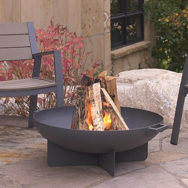 Real Flame Anson 36 Inch Wood Burning Fire Pit Gray 958 Gry Wood Fire Pit Outside Fire Pits Metal Fire Pit
