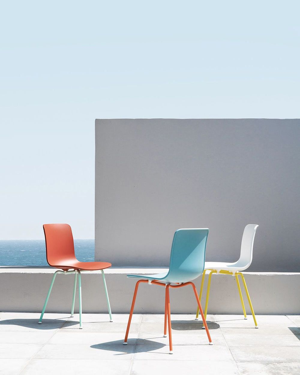 Onland Outdoor Furniture Refresh Your Patio Dining Set With Vitra S Hal Colour Tube Chairs