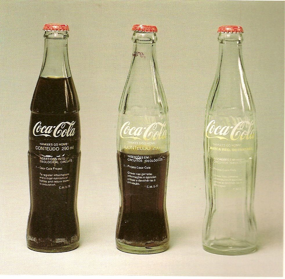 Cildo Meireles. Projeto Coca-Cola, 1970.