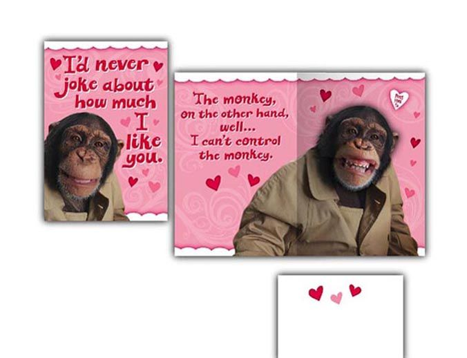 Hallmark Humor Card • Sound and Motion • Monkey tells jokes.