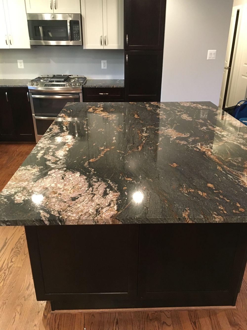 Black Magma Granite Black And Copper Kitchen Diy Kitchen