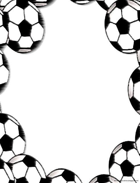 Bordes Decorativos: Bordes decorativos de hojas de Fútbol para ...