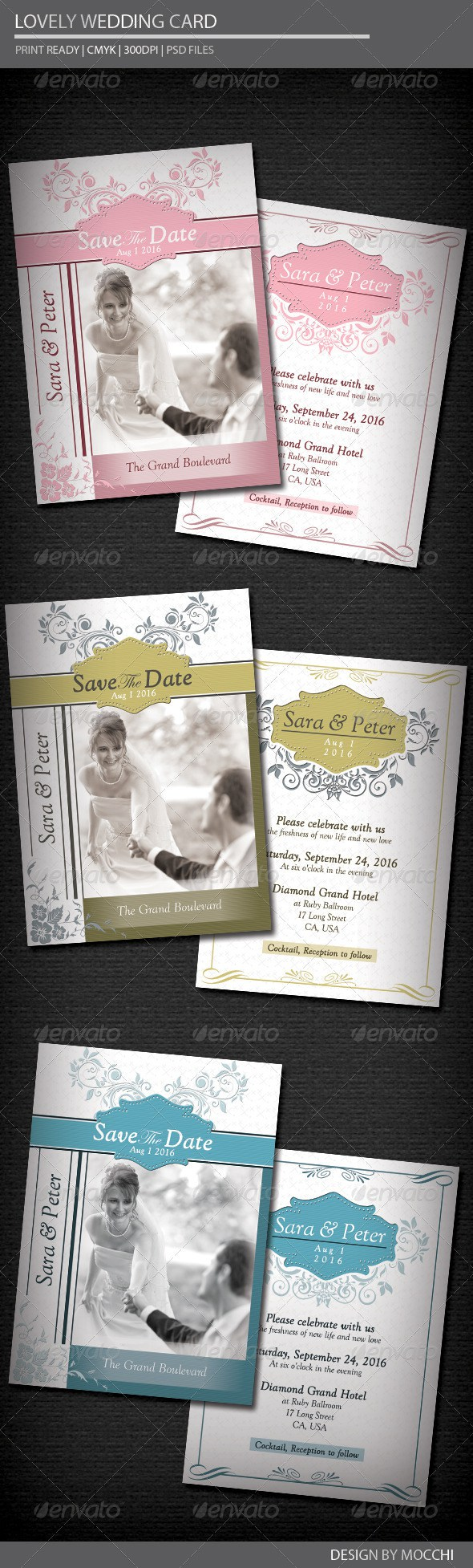 65+ Best Wedding Invitation Templates - PSD & InDesign | Pinterest