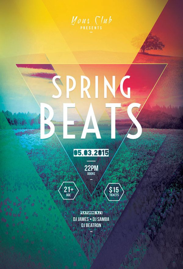 Spring Beats Flyer  Flyer Template Design Posters And Template