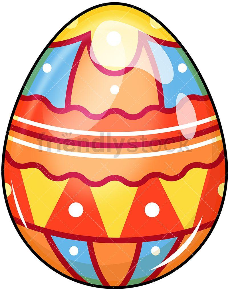 Colorful easter egg easter egg cartoon coloring easter