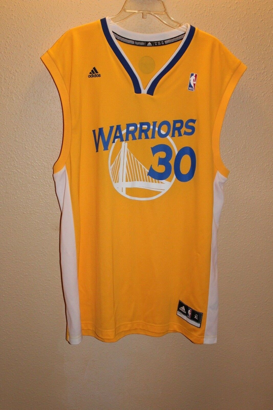 the best attitude 30ff7 ba330 STEPHEN CURRY Jersey Mens Size XXL White Sewn Name/Numbers ...