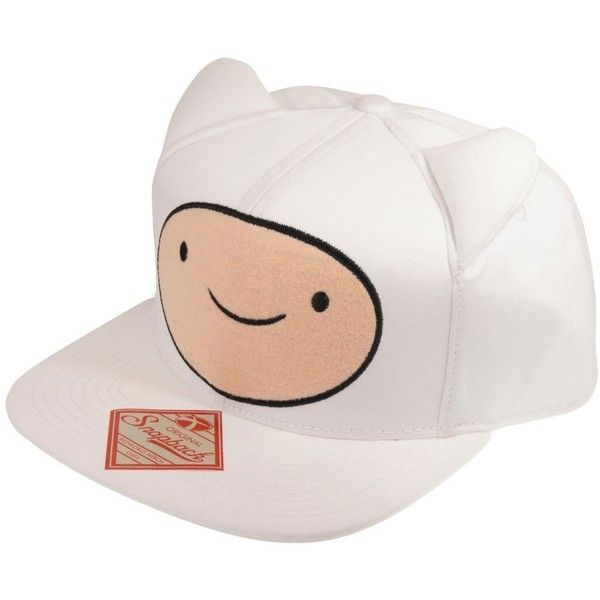 677d668a8a2 Adventure Time Finn Snapback with Ears ( 14) ❤ liked on Polyvore featuring  accessories