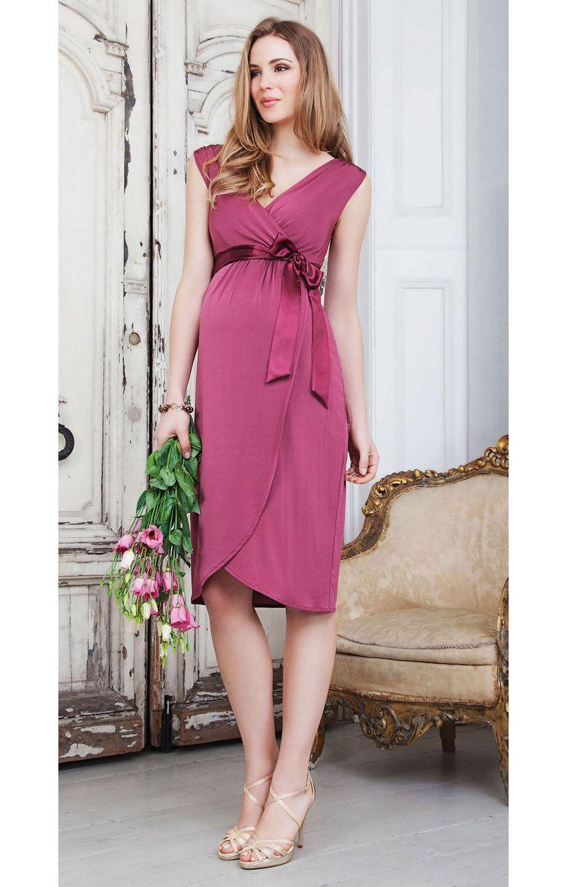 New* Bella Maternity Dress in Raspberry by Tiffany Rose (Size 1 ...