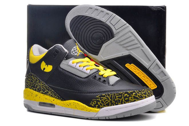 Yellow/Grey/Black Nike Air Michael Jordan III (3)