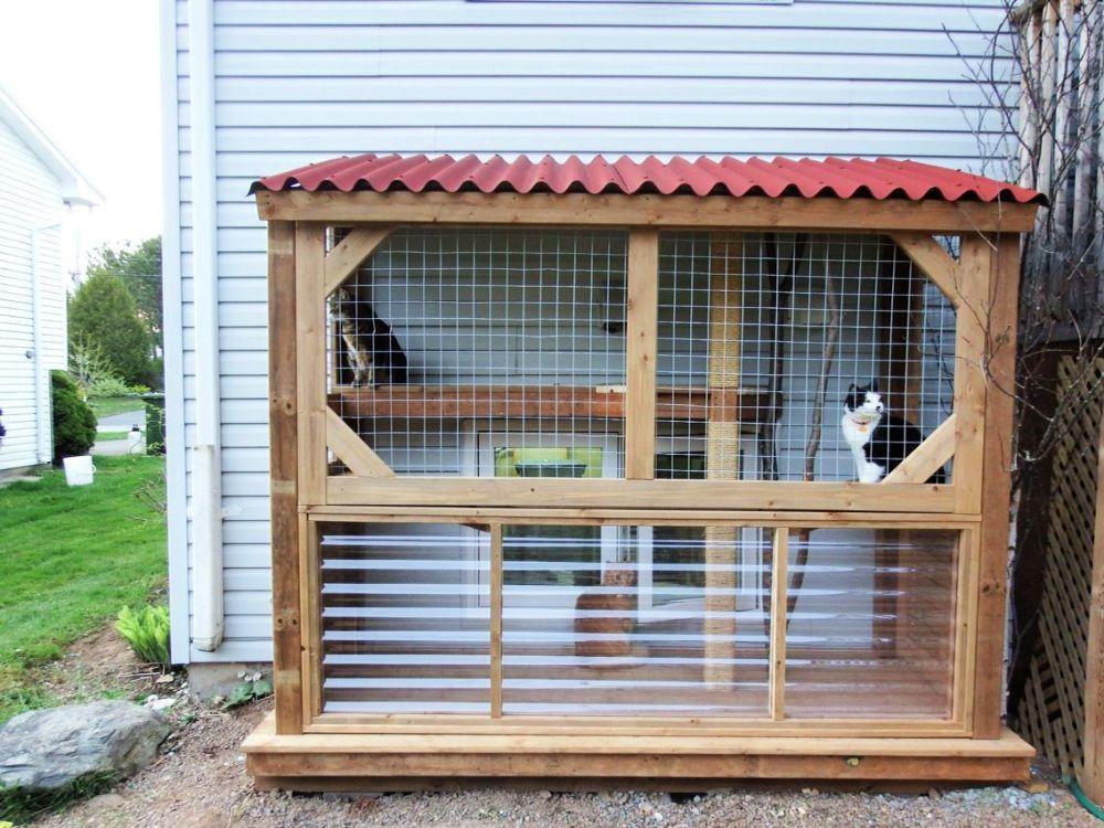 30 Best Diy Outdoor Cat House Plans Diy Cat Enclosure Outdoor Cat House Outdoor Cat Enclosure