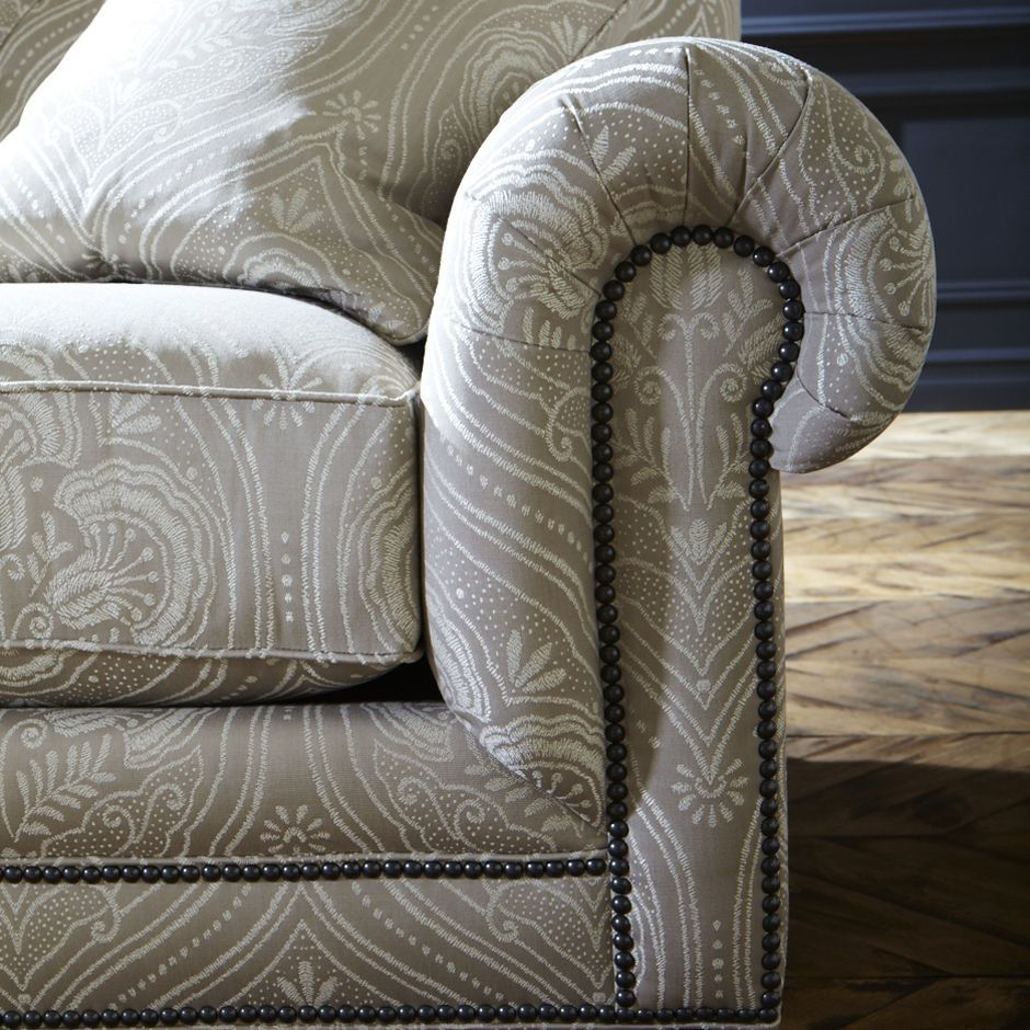 The Chadwick Sofa Comes With Optional Nailhead Trim