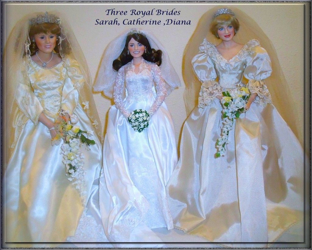 A trio of royal bride dolls royalty pinterest