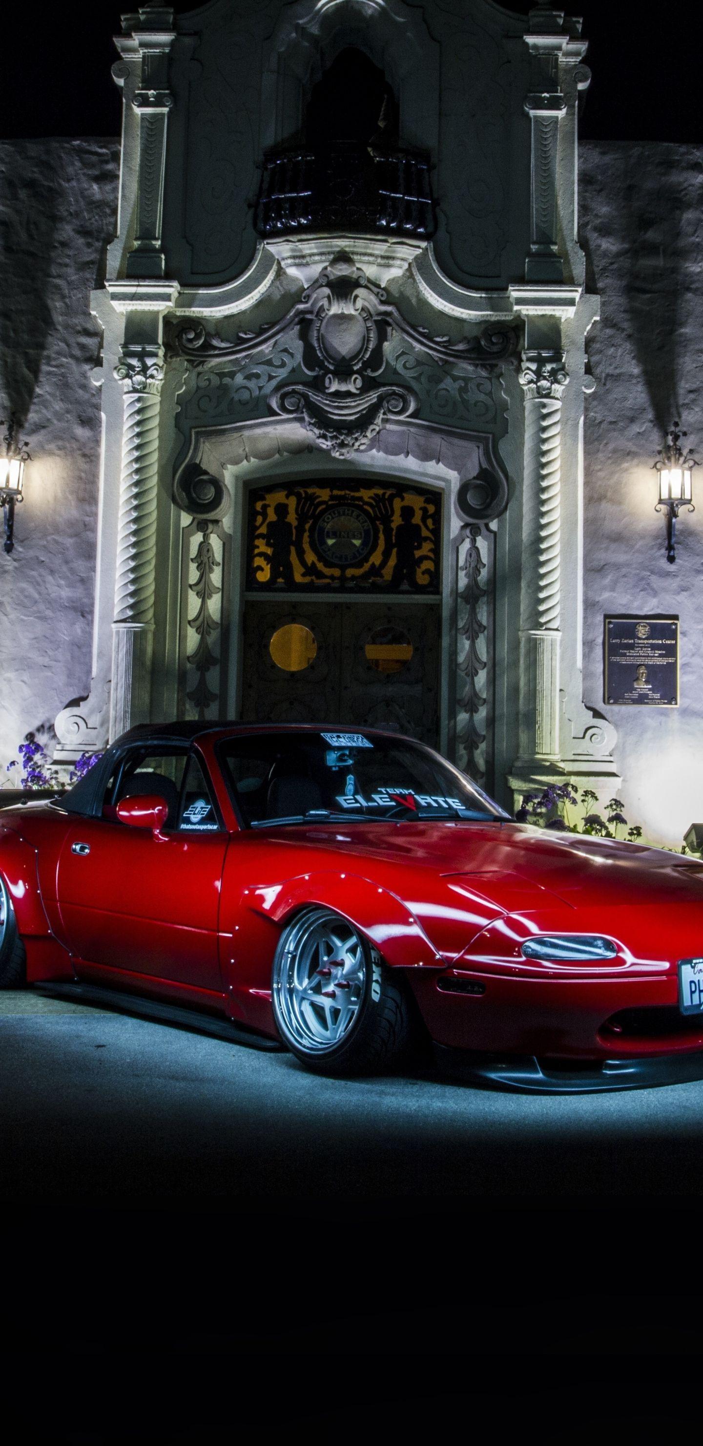 Red Sports Car Mazda Mx 5 Classic 1440x2960 Wallpaper Mazda