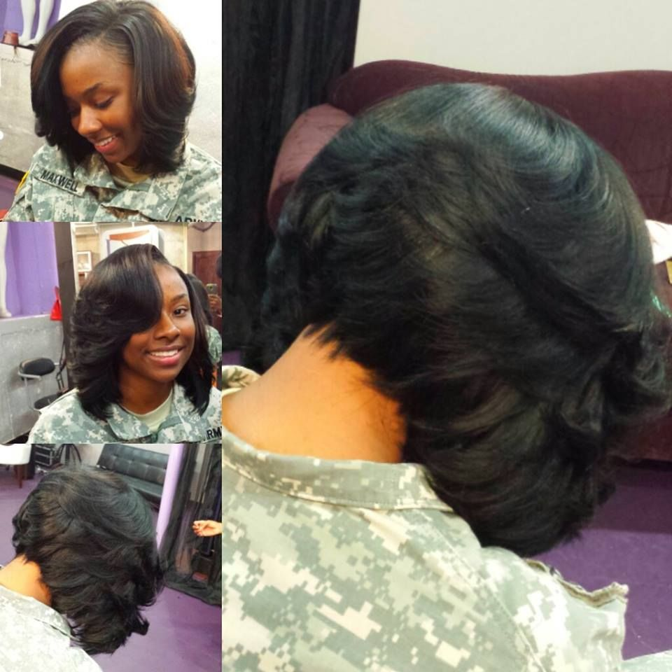 Can I order a bob with layers on the side fierceHAIR MilitaryGirl