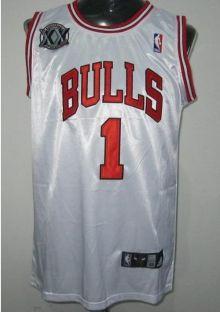 low priced 305b2 25429 Chicago Bulls 1 Derek Rose White 20th Jersey Wholesale Cheap ...