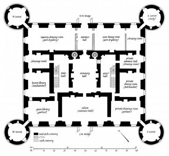 Inveraray Castle Castle Floor Plan Castle Plans Castle House Plans