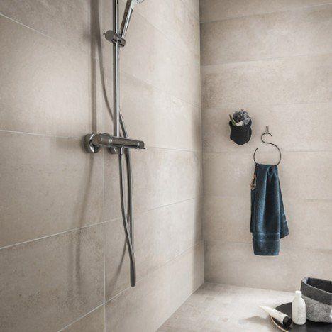 Carrelage sol et mur greige, Harlem l30 x L120 cm Salle de bain