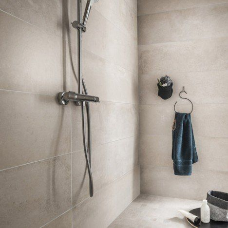 Carrelage sol et mur greige, Harlem l30 x L120 cm Salle de bain - carrelage mur cuisine moderne