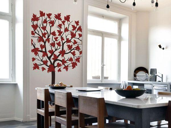 Baum - Bunte Ideen für die Wand - küche farben ideen