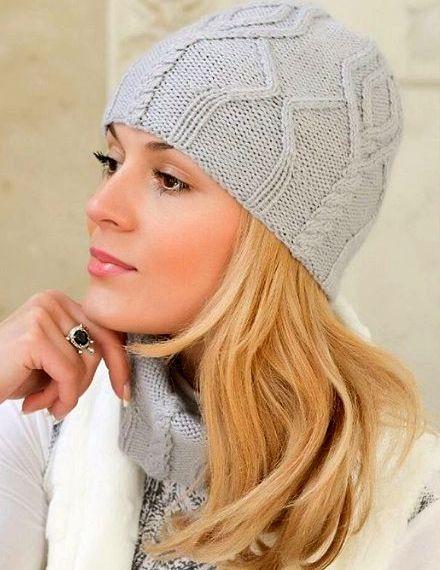 Sombrero y bufanda con patrón de aran | boina tejida | Pinterest ...