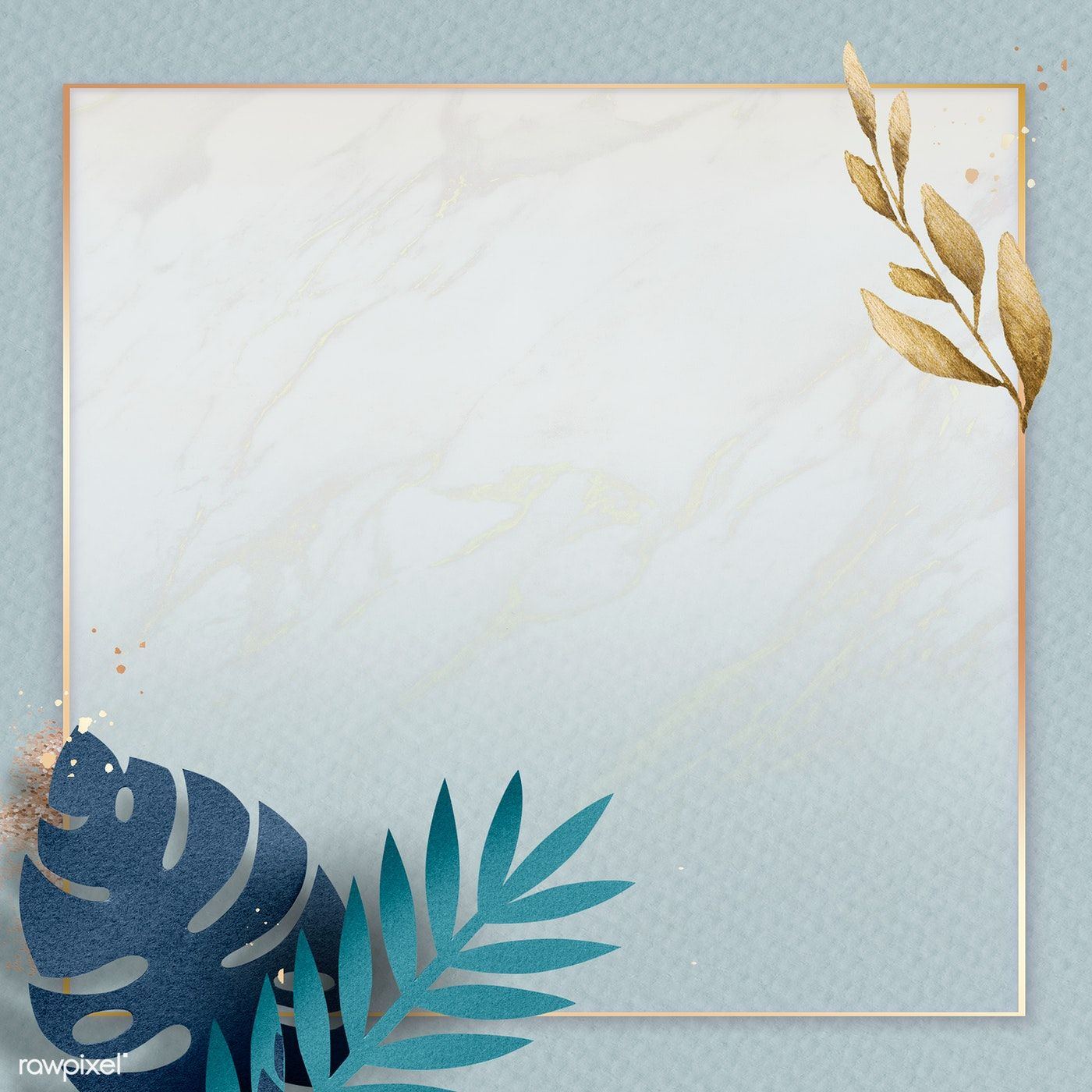 Blank Square Leafy Golden Frame Premium Image By Rawpixel Com Adj Photoshop Wallpapers Photo Frame Gallery Framed Wallpaper