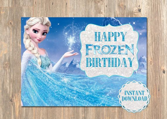 Frozen Birthday Card Happy Birthday Cards Disney Disneys