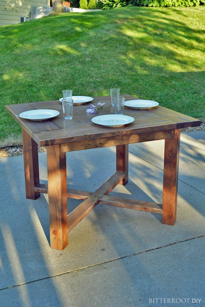 x base square farmhouse dining table diy dining room table diy dining table diy dining room on farmhouse kitchen table diy id=95361