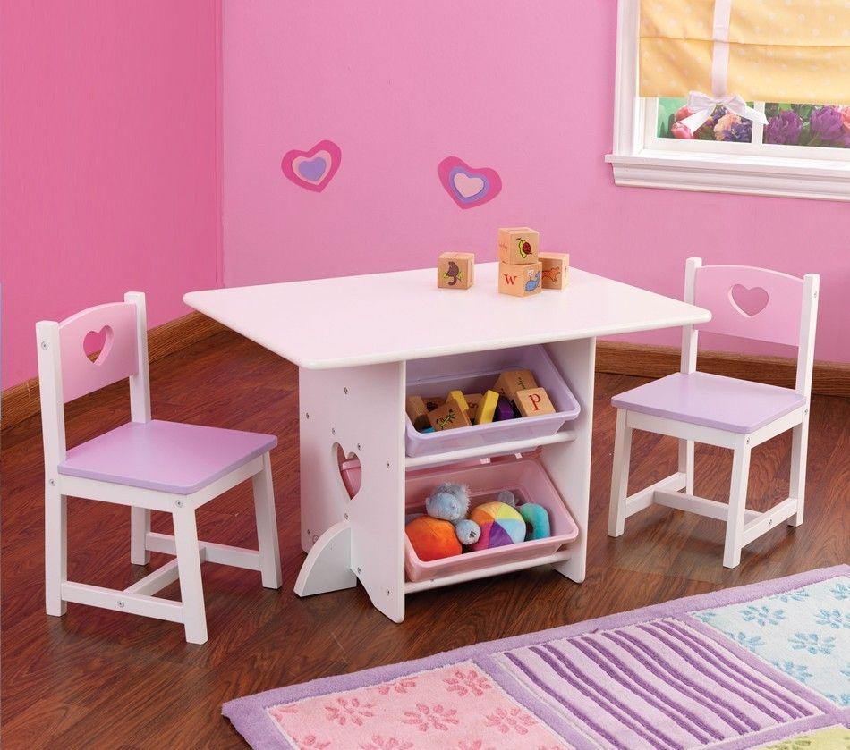 $120 Heart Table & Chair Set