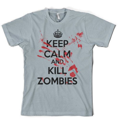 $16.99 Kill Zombie shirt, keep calm kill zombies -  this is really for my husband!  he's obsessed with zombies!  weird ...i know right!